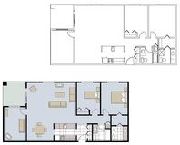 Architectural floor plans Royalty Free Stock Photo