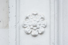 Architectural flower fresco on the wall of a building Royalty Free Stock Photos