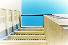 ARCHITECTURAL. Forms of geometry applied to buildings Stock Images