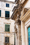 Architectural fragment of old buildings Stock Photo