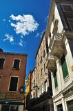 Architectural fragments from buildings in Venice Stock Photography