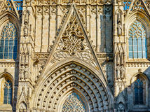 Architectural fragments of Cathedral of Santa Eulalia of Barcelona Royalty Free Stock Photography