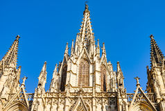 Architectural fragments of Cathedral of Santa Eulalia of Barcelona Stock Photography