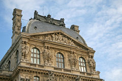 Architectural fragments of Louvre museum  building, Paris, France Stock Photos