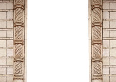 Architectural frame and place for text on a white background.  Royalty Free Stock Photos