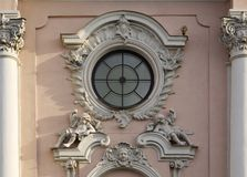 Architectural frieze with angels Stock Image