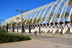 Architectural garden of L`Umbracle,Valencia Royalty Free Stock Photos