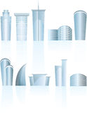 Architectural generic city office buildings Royalty Free Stock Photos