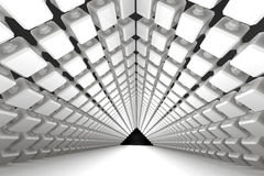 Architectural geometric background with a passage Stock Images