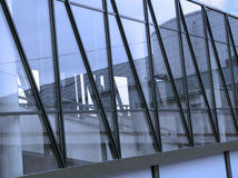 Architectural glass structure. The architectural glass structure by day royalty free stock photography