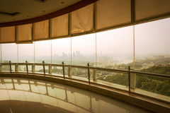 Architectural glass viewing platform. Chongqing royalty free stock photos