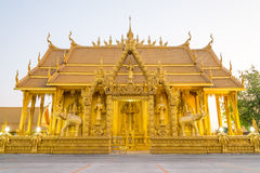 Architectural gold temple. Royalty Free Stock Photos