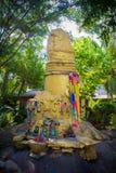Architectural golden penis, Thai religion Royalty Free Stock Image