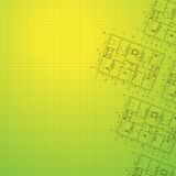 Architectural green background. Stock Photography