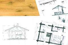 Architectural hand drawing Royalty Free Stock Photos