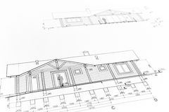Architectural home drawing Royalty Free Stock Photography