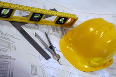 Architectural home plans. Architectural plans for remodeling a home Royalty Free Stock Images