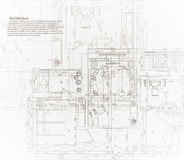Architectural house blueprint. The architectural plan of the apartment Royalty Free Stock Images