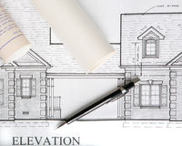 Architectural house drawings Royalty Free Stock Photo