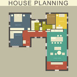 Architectural house plan. Stock Photo