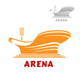 Architectural icon of a modern stadium Stock Photos