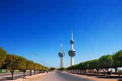 Architectural icons of the Kuwait City Stock Images
