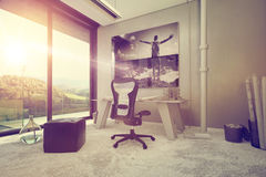 Architectural Interior Design for a Home Office Stock Images