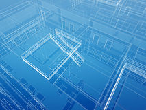 Architectural interior wired background Stock Images