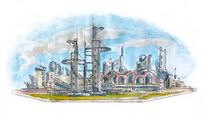 Architectural landscape stock images