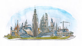 Architectural landscape Stock Image