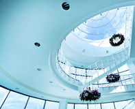 Architectural limpid round ceiling Stock Images