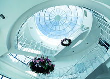 Architectural limpid round ceiling Stock Photos