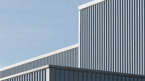 Architectural lines of an industrial building Stock Images