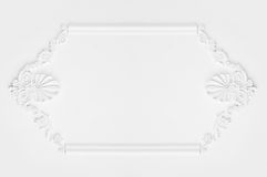 Architectural luxury white wall design with mouldings Stock Photography