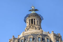 Architectural masterpieces of Barcelona. Streets, summer day Stock Images