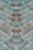 Architectural Mesh Detail With Fish Scales Texture. Bump royalty free stock images