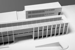 Architectural Model of Building restoration Stock Images