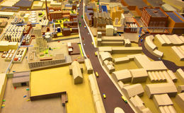 Architectural model of industrial district Stock Photography