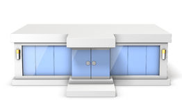 Architectural Model of the showroom. This is a computer generated image,on white background Stock Images