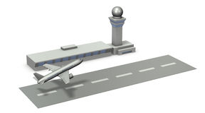 Architectural models of airports. Royalty Free Stock Photography