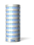 Architectural models of cylindrical building Stock Photo