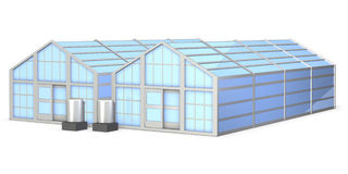 Architectural models of greenhouse Stock Images