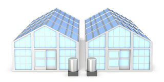 Architectural models of greenhouse Royalty Free Stock Photo