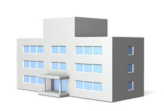 Architectural models of school. Isolated, computer generated image Royalty Free Stock Photo