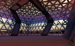 Architectural modern designed hall for concert royalty free illustration
