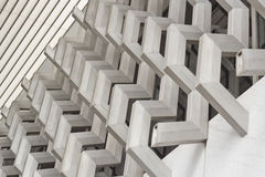 Architectural modern detail. Architectural detail of the brise soleil that covers the facade of a building Royalty Free Stock Photos