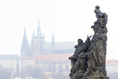 Architectural monument on the Charles Bridge Stock Image