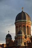 Architectural monuments of the Chernivtsi University. Famous buildings of the Chernivtsi University is the bright example of the Romanesque, Byzantine and royalty free stock photography