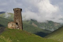 Architectural monuments of Upper Svanetia. Svaneti (Suania in ancient sources) is a historic province in Georgia, in the northwestern part of the country Stock Photos
