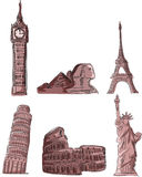 Architectural monuments,vector Stock Image